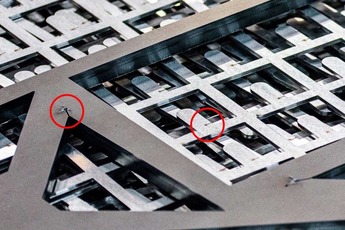 Laser cutting lead-ins