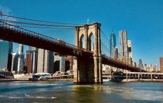 Brooklyn Bridge, the first steel bridge to carry traffic