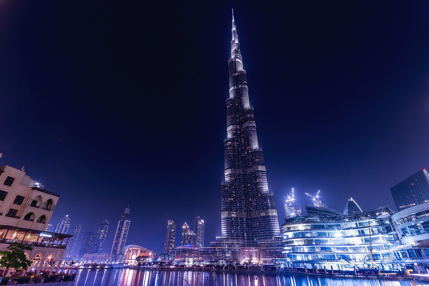 Burj Khalifa, Dubai. Currently the tallest building in the world at 828 metres, since 2009